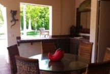 Outdoor Living Spaces / In Palm Springs, California the backyard adds additional living space to every home!