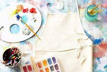 Drawing and painting materials