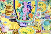 Kaffe Fassett / Ideas for sewing, knitting and more by the guru of colour... his colours are so uplifting for gloomy days.