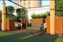 Cor-Ten Steel Planters / Constructed out of 11 gauge Cor-Ten Steel.