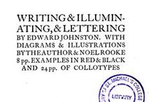 1917, Writing and Illuminating, and Lettering by Edward Johnston. / 1917, Writing and Illuminating, and Lettering by Edward Johnston,  Sourrce: http://tinyurl.com/okebwtu