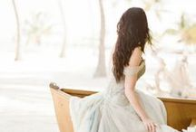 BEACH WEDDING DRESSES / Dresses perfectly suited for a destination wedding in beautiful Grand Cayman.  Colors of the sand, sea and sky are the inspiration as well as a light, beachy feel.