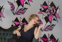 """Flavor Paper / Tasty hand-screened and digital wall coverings made in a pop-wallpaper factory called the """"Flavor Lair""""."""