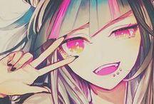 Rainbow Hair Anime