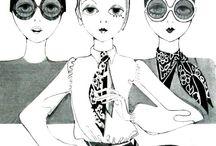 60's & 70's illustrations