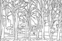 tree art  - coloring pages