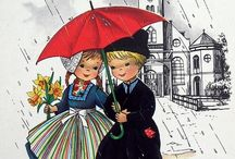 Vintage cards and illustrations