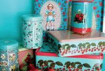 Colourful & Kawaii tins / Tins. Colourful. Kawaii. Cute. Vintage. New. Playful!