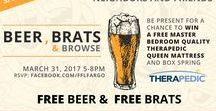Beer, Brats, & Browse / March 31, 2017 5:00-8:00PM  Join us Friday for Beer, Brats, and Browse!  Furniture For Less would like to invite everyone to come in for free beer sampling and free delicious brats. Our friends Silver Dollar Bar & The Flying Pig Grill will be helping us with the refreshments!  In addition to the free beer sampling and free delicious brats, we'll be giving away a premium Therapedic mattress & boxspring!