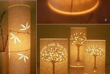 Lamps, Lighting, Lampshades / by Paula Baillargeon