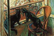Black Cats in Art