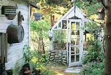 växthus och köksträdgård