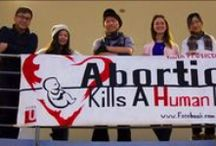 Outreach / Pro-life apologetics, the truth about abortion.  Great ways to do activism on YOUR campus.