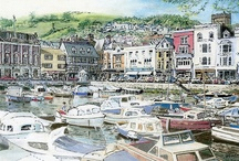 The Boatfloat, Dartmouth / Right in the centre of #Dartmouth, this perfectly formed and picturesque inner harbour is surrounded by quality shops and the famous Royal Castle Hotel. It features in many a photo or painting of this beautiful town.