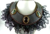 Bead Embroidery, jewellery / Handmade Jewellery from www.pearlfactory.de Bead Embroidery, Beadembroidery, Bead Art, Peyote, Chainmaille, Wirewrapping, Schmuck, jewellery, jewellry