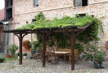 Auvents de terrasse / Toutes les différentes types des constructions en bois, surtout avec l'utilisation du bois lamellé-collé. Extraordinaires en forme et très bien fait.