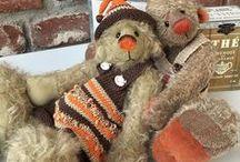 Knöpflies / Bären nach meinem eigenen Design, mit viel Liebe genäht und zum Leben erweckt