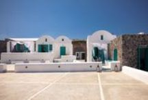 8 Villas at Imerovigli, Santorini / Private newly-built 535 sq.m. for sale at Santorini, Greece.  Four maisonetes, two traditional apartments 55sq.m. each and a reception, all furnished. Built with top quality architectural construction around a swimming pool, Surrounded by a volcanic-rock wall. A large parking space which can be used as heliport. Panoramic view of the airport and the islands of the Aegean. Beautiful sunrise and moonrise from this position.
