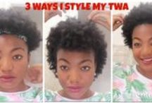 TWA Hairstyle Tutorials / Natural hair styles you can try on a TWA (Teeny Weeny Afro). :)