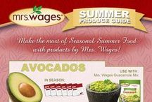 Mrs. Wages Summer Produce Guide