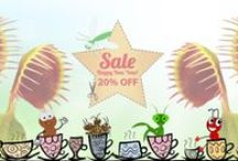 Carnivorous Plant & Garden Supply Promotions / Our Sale banners for Venus Flytraps, Nepenthes, Sundews, and other Carnivorous Plants Online. Hydroponic Equipment & Gardening Supply Banners