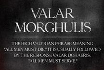 Valar Morghulis / Best TV Series. Game of Thrones. Jon Snow. Daenerys Targaryen. Tyrion Lannister. Arya Stark. Stannis and Shireen Baratheon.