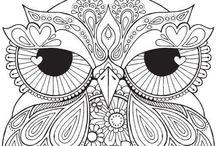 Kolorowanki, szkice, ornamenty, ilustracje, coloring pages