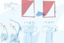 """The Scent of Flaminia / The Scent of Flaminia è lo spettacolo sensoriale che si svolge presso lo showroom Flaminia di via Solferino. Un percorso emozionale accompagnato dalle note frizzanti di un gradevole profumo - Milan Design week with """"The scent of Flaminia"""", the sensory show in Flaminia showroom (via Solferino). An emotional tour accompanied by sparkling notes of a pleasant fragrance"""