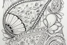 Zentangle Art / I loved drawing patterns as a child, never knew then that I was actually doing zentangles!