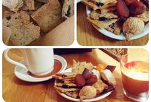 Almond herbed thin crackers /