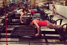 Burn. / Target muscle groups with Lagree positions.