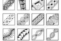 Zentangle Pattern Ideas / Patterns and ideas