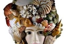 Amazing Shell Masks / This is a collection of masks adorned with seashells.  What fun, incredible imaginations!