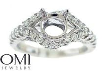 """Diamond Engagement Ring Semi-Mounts / """"Say Yes"""" to our selection of Semi Mount Engagement Rings"""