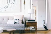 INTERIORS / Lots of white, scandinavian inspired but cosy homes!
