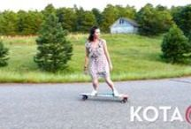 KOTA Longboards Videos  / Videos featuring KOTA Longboards handcrafted in Denver, Colorado. Made in the USA featuring #KOTAgrip a particulate free, clear finish that eliminates the use of grip tape. You can now have an art surface on the top of your deck and start turning heads as you skate by.  KOTA Longboards...It's your life, carve it!