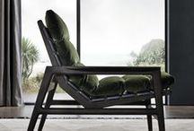 Ipanema armchair, design Jean-Marie Massaud / The fascinating most famous beach in Rio de Janeiro is the extraordinary scenario for the new armchair designed by Jean-Marie Massaud. A wraparound and versatile upholstered piece of furniture which offers a new concept of comfort.