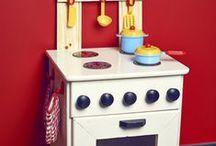 Drewniana kuchenka dla dziecka / Własnoręcznie zrobiony prezent dla dziecka
