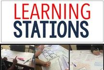 Learning Stations & Centers for Secondary Classes / Learning stations are not just for the primary crowd.  They are also very effective in the middle and high school class as well.  Check here for ideas.