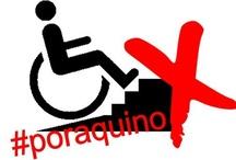 """#poraquino / #Poraquíno se trata de un tablero de denuncia sobre aquellos edificios que no piensan en las personas con diversidad funcional en sus accesos. El mecanismo es sencillo:  1) Pides colaborar a través de la foto principal del tablero.  2) Se te da acceso  3) Subes la foto y escribes el lugar dónde se encuentra como por ejemplo: """"Centro de salud Caramuel, Caramuel, 42 (Madrid-España)"""" y a continuación añades el hashtag #poraquino.  4) Y compartes en tus redes sociales.  ¿Te apuntas?"""