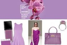 Radiant Orchid Pantone 2014 / The Pantone Colour of the Year is Radiant Orchid 18-3224. An enchanting harmony of fuchsia, purple and pink undertones, it is a captivating purple that draws you in with its beguiling charm.