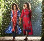 Ladies Kurta Collection 2017 / The ladies kurta collection has been designed meticulously keeping comfort and flexibility in mind. The outfits this summer feature shibori dye and hand embroidery with beadwork on neckline while also sporting various slits upon light fabrics such as cotton and viscose.