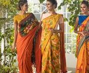 Falgun 2018 Collection / The 2018 Falgun collection features bold floral motifs in hues of orange, yellow and green to represent the season of new blooms. The collection includes new designs of saree, shalwar kameez, and panjabis. The range mostly comes in cotton fabric to offer lightweight clothing welcoming the warmer season.