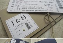 INVITATIONS FOR WEDDING / Wedding invitations, save the dates, wedding programs, and ideas stationary