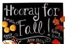 "Autumn Leaves ~ Hooray for Fall! / William Cullen Bryant  once said ""Autumn, the year's last, loveliest smile."" So let's say goodbye to the hot sun of summer and hello to crisp leaves, apple cider, and pumpkin carving.  / by True Goods ®"