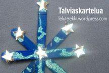 Talviaskartelua / Talviaskarteluja lapsille Winter crafts for kids