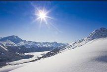 Engadin Landscape / Wonderful Landscape of Engadin, Switzerland.