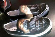 Zapatos pintados a mano por mi!