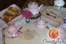 Tea & coffee: Все для чая, кофе и красивой сервировки / Чайные домики, коробы, коробочки и шкатулки для чая и кофе. Decoupage & scrapbooking. Декупаж и скрапбукинг Сделано с использованием продукции C.H.E.A.P.-Art