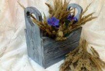 Wood & brush. Браширование, обжиг, морение, вживление / Изделия из массива сосны. Браширование, рустик, кантри, прованс. Выполнено с использованием продукции C.H.E.A.P.-Art